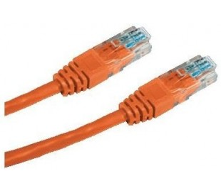 Patch cord UTP cat5e 0,25m oranžový