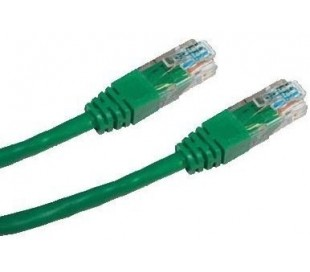 Patch cord UTP cat5e 0,25m zelený