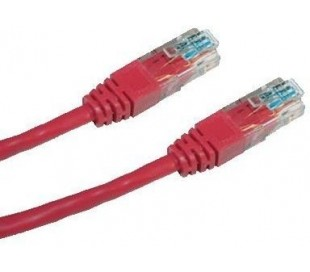 Patch cord UTP cat5e 3m červený