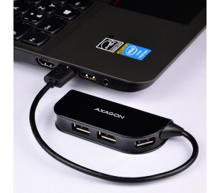 USB HUB AXAGON 4x 2.0 black