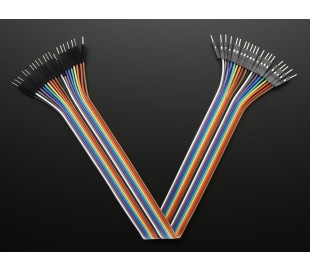 Premium Male/Male Jumper Wires 20x12 300mm