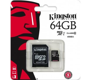 64GB microSDXC Kingston UHS-I U1 45R/10W