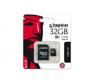 32GB microSDHC Kingston UHS-I U1 45R/ 10W